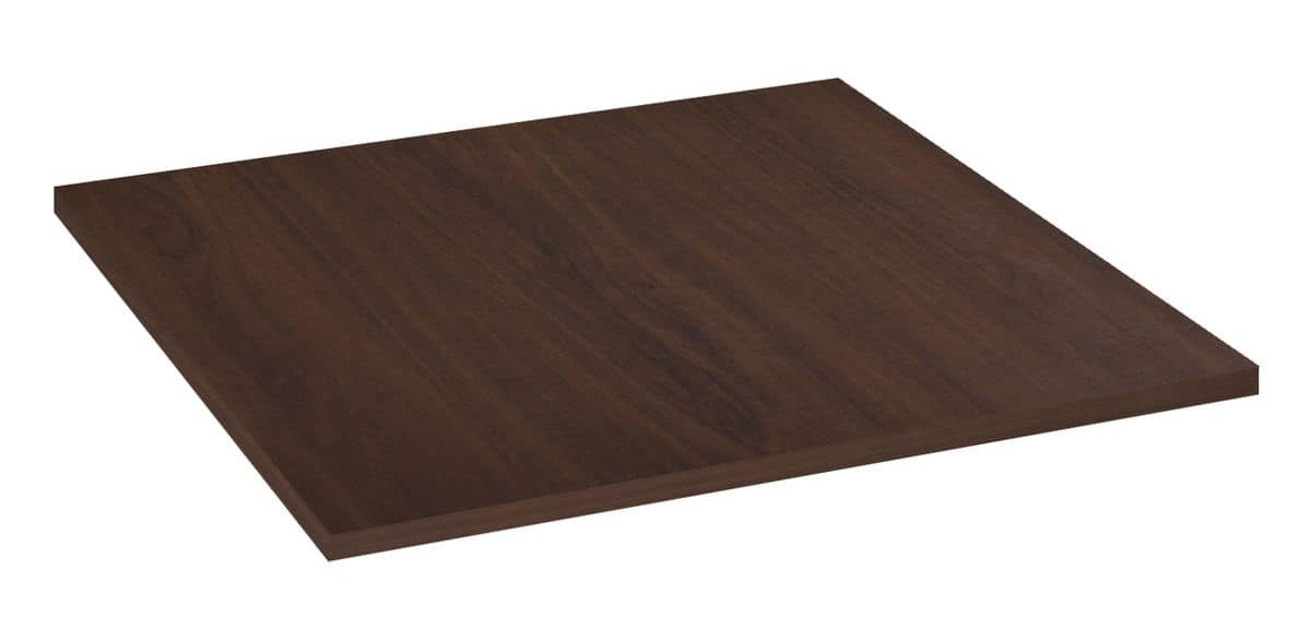 Table top in melamine walnut, Table top in melamine walnut