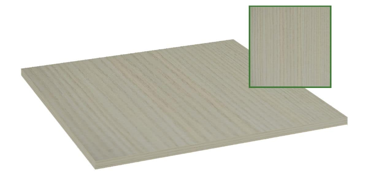 Table Top In Melamine White Wood