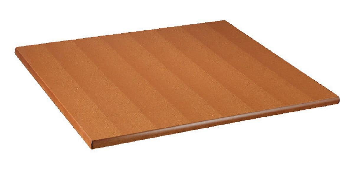 Top in veneered plywood stained cherry, Table top in veneered plywood stained cherry