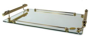 1401, Glass and brass tray