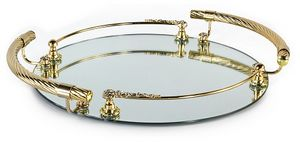 1732, Classic tray, in brass and glass