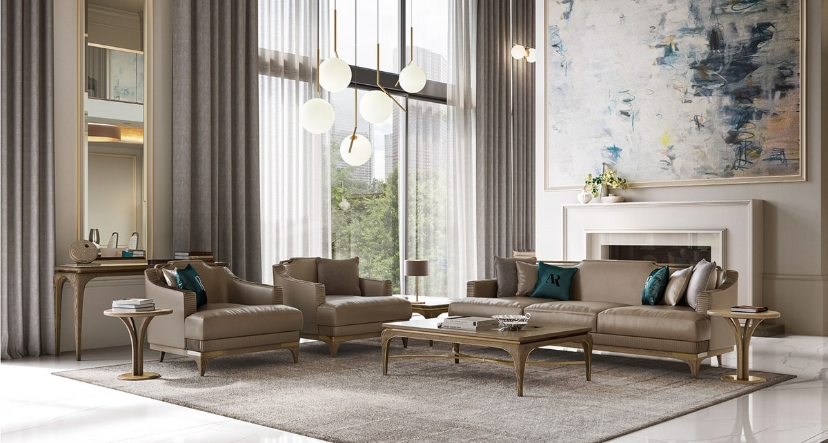 Alexander Art. A81, Armchair with comfortable and enveloping padding