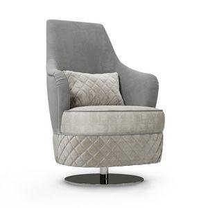ART. 3336, Swivel armchair with high backrest