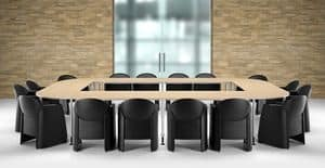 AXI 680, Entirely upholstered armchair, for meeting rooms