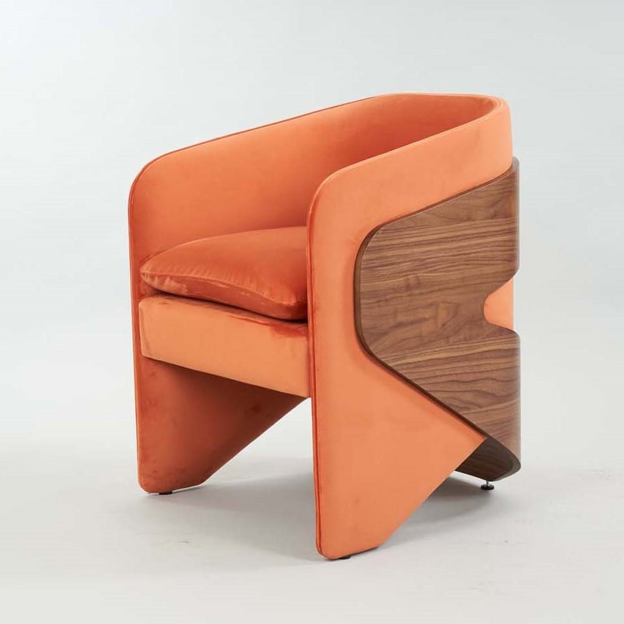 BS505A – Armchair, Armchair with enveloping  structure