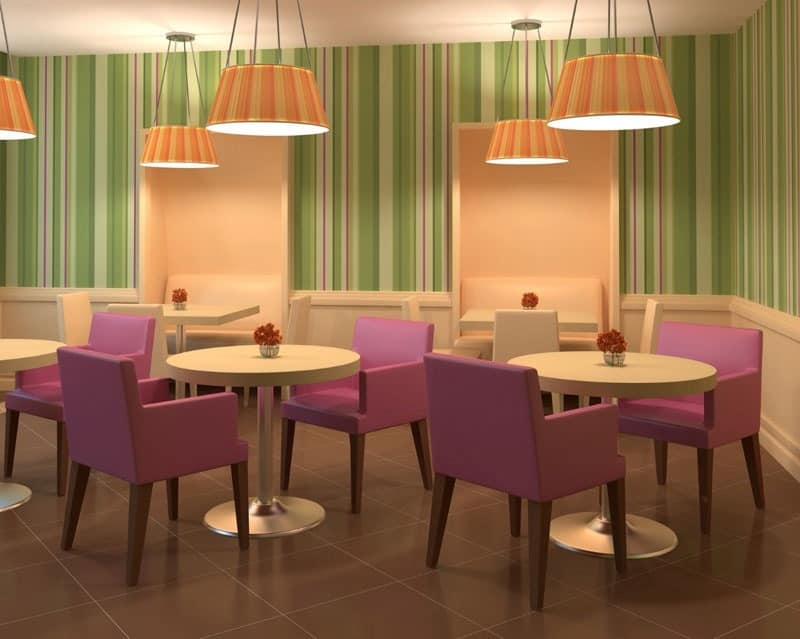 C04, Upholstered beech, for dining and waiting rooms