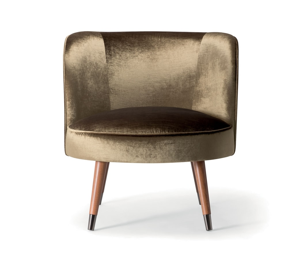 CANDY LOUNGE CHAIR 061 P, Enveloping armchair