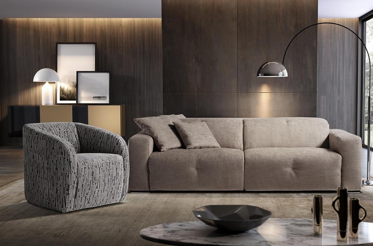 Carlotta, Enveloping modern armchair