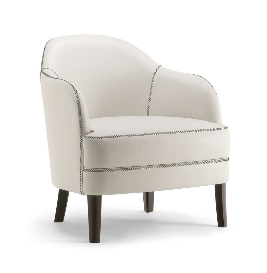 CHICAGO LOUNGE CHAIR 015 PL, Handcrafted armchair