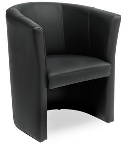 Duke 1P, Tub chair, for waiting room, with customizable upholstery