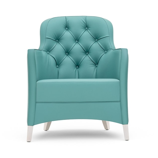 Euforia 00141K, Lounge armchair with capitonné back