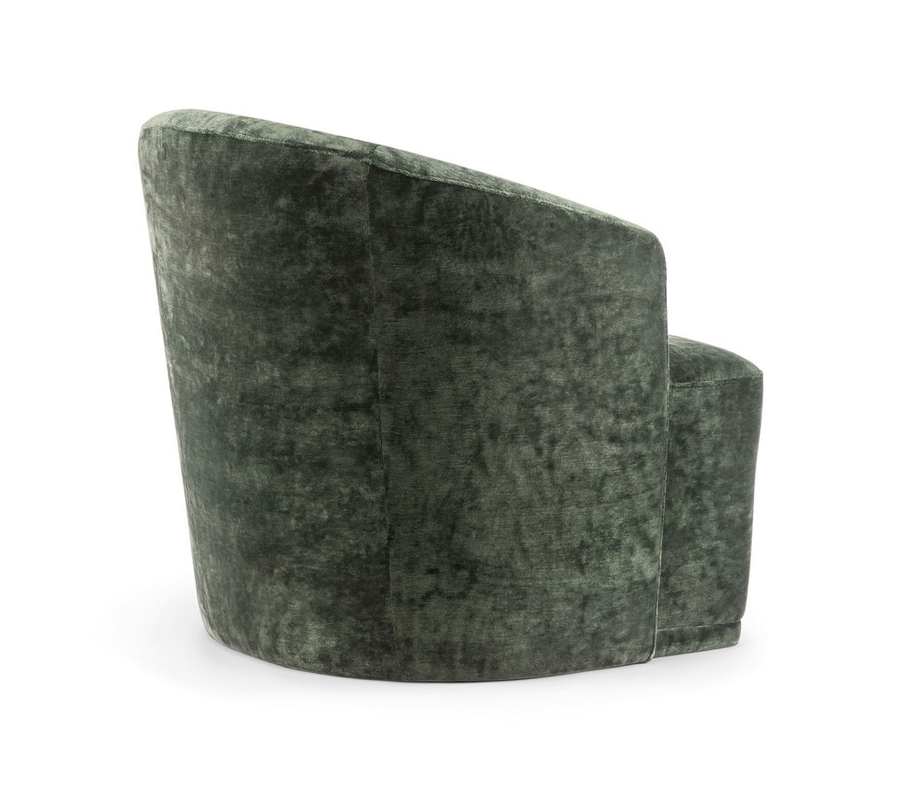 FRED LOUNGE CHAIR 043 P, Armchair with enveloping backrest