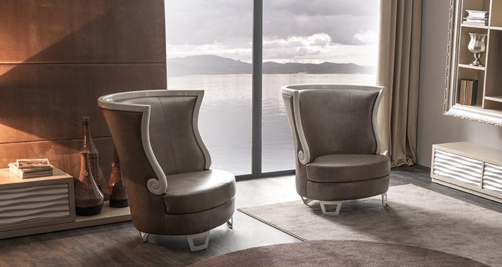 Gaudì Art. 637, Elegant armchair with high back