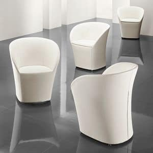 Maddy, Tub chair with removable cover, for waiting room