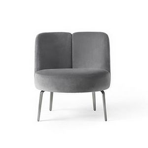 Medusa, Armchair with an enveloping and rounded line