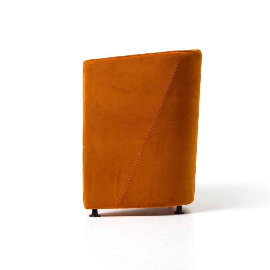 Pass, Modern tub Armchair, wooden structure