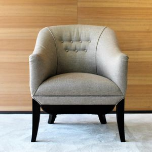 POL-PRO1PTES-HH, Outlet armchair in fabric and leather