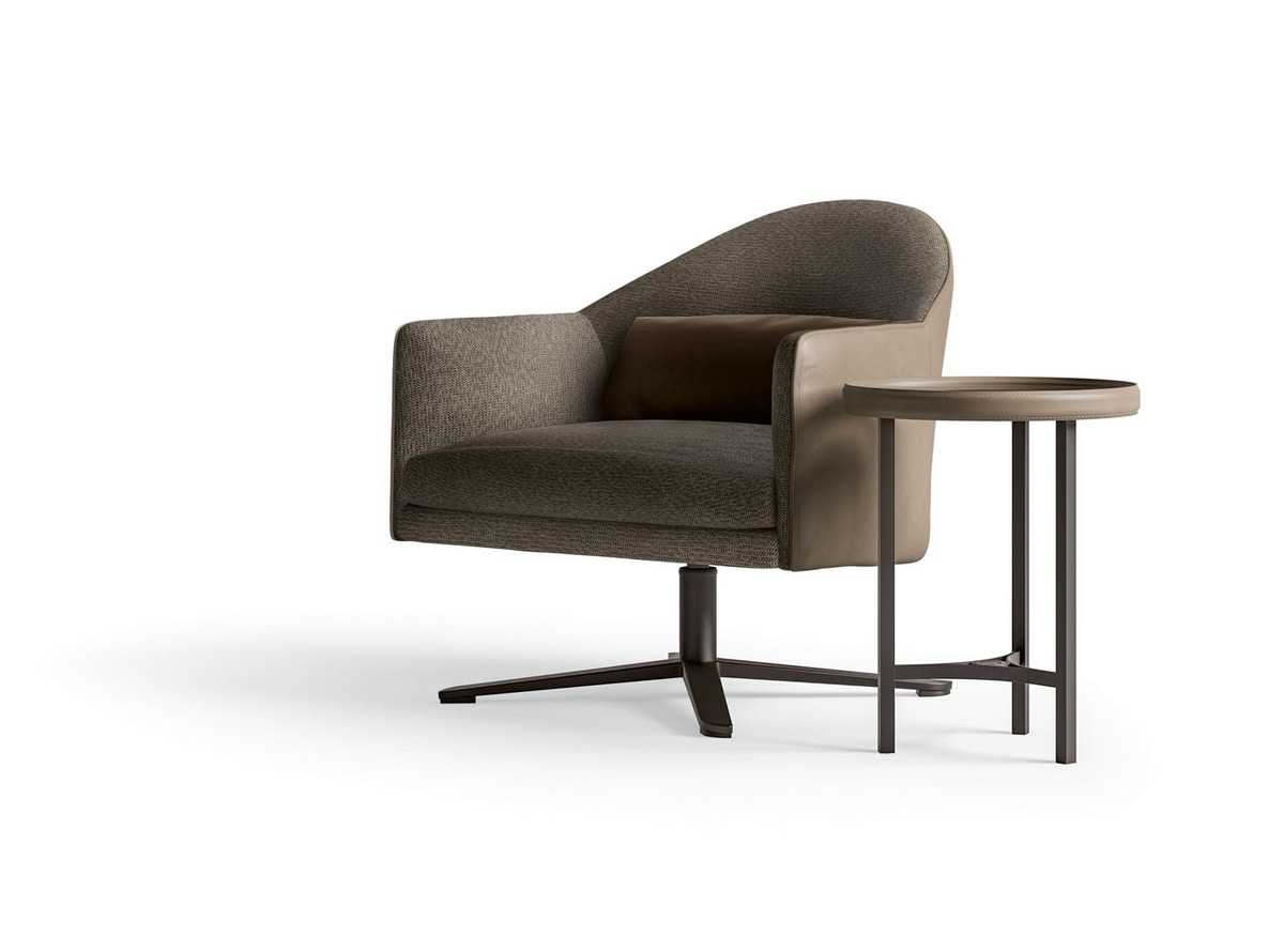 Starlight Art. ST775, Swivel armchair with metal base
