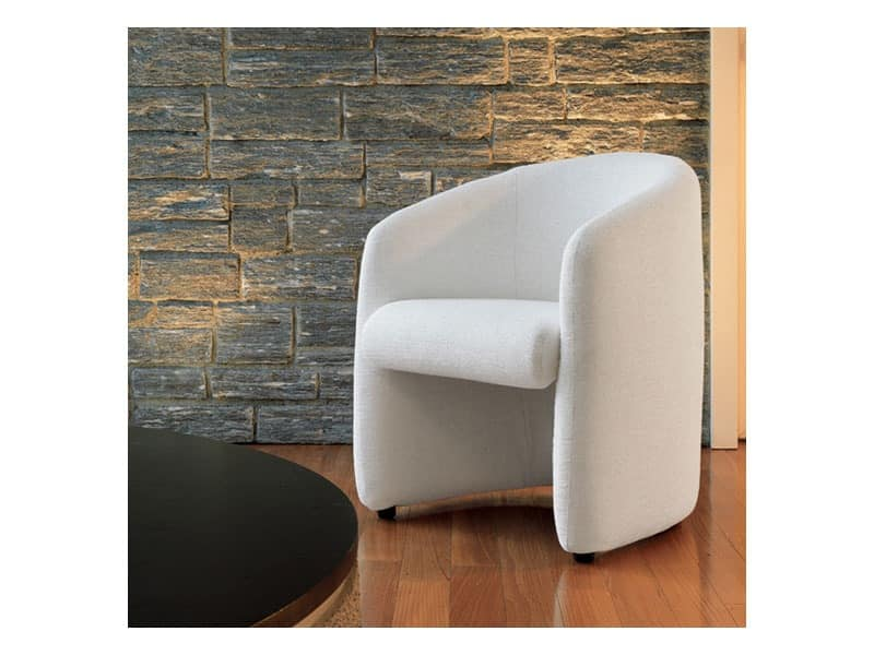 Tania, Comfortable tub chair, with handle, for offices