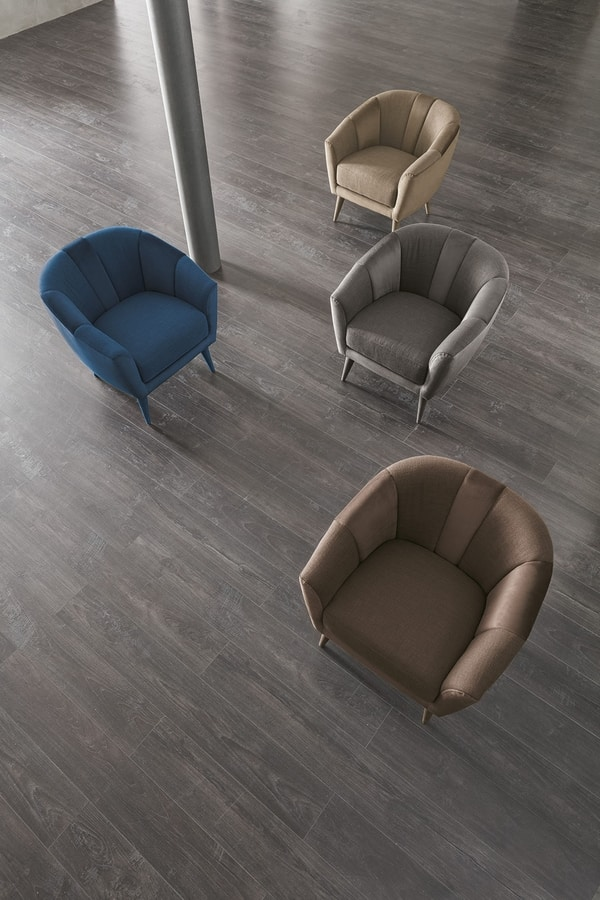 TEBE PT509, Armchair with round shapes