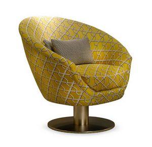 Tonda swivel, Armchair with round swivel base