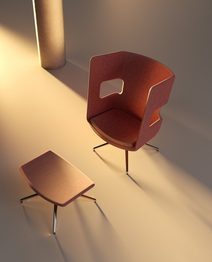 Zeus 1, Armchair with high back for waiting room