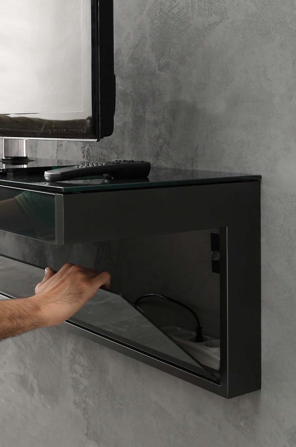 a107 tom, TV stand with drawer and cable holes