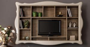 Alice Art. 524, Hanging bookcase with TV stand