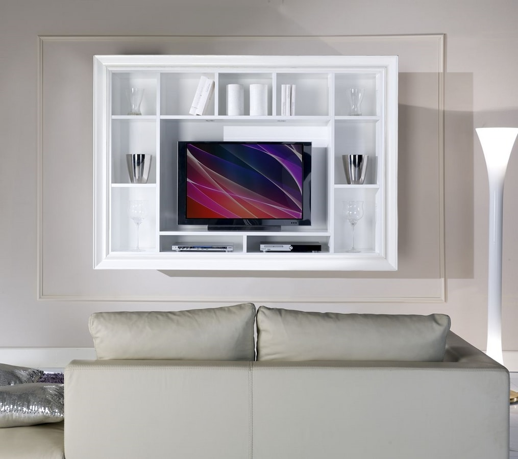 Allegra Living wall unit, Hanging cabinet for living room