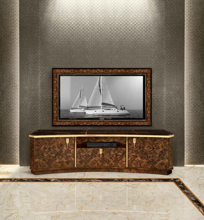 ART. 3292, TV cabinet in briar walnut