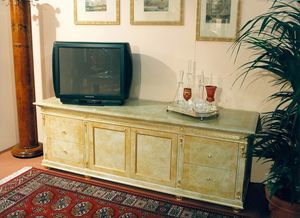 Art. 755, TV cabinet with beige lacquering