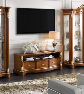 Brianza tv stand 3 drawers, Classic TV cabinet, handcrafted design