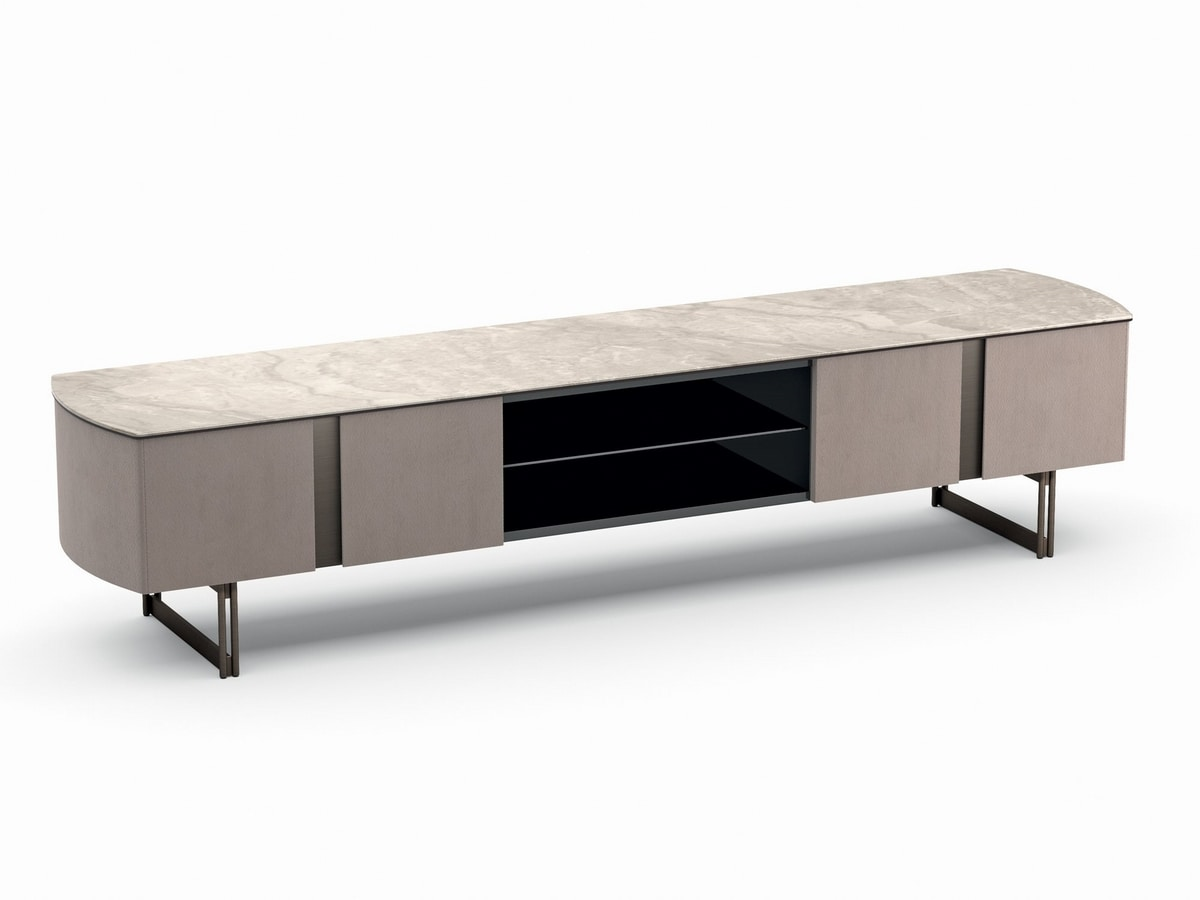 Butterfly, Orta tv cabinet with rounded sides