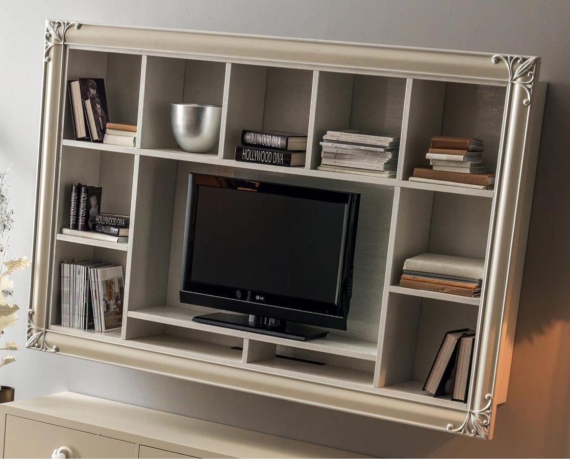 Clara  Art. 561, Wall-mounted TV bookcase