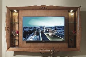 CN03 Charme TV stand, Tv cabinet in inlaid wood, for luxury hotels