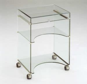 Dattilo, Tv stands, tempered glass, retractable shelf