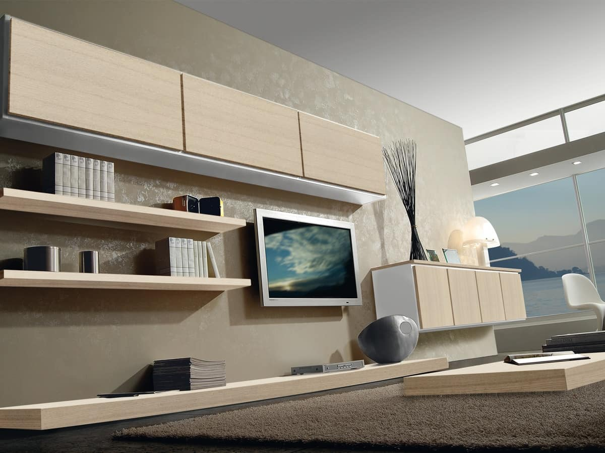 Day Systems 04, Modular furniture with shelves and storage units