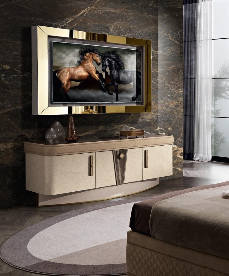 Diamond mobile porta tv, TV cabinet with LED light