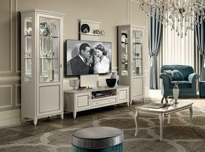 Giotto tv stand composition, TV cabinet in wood