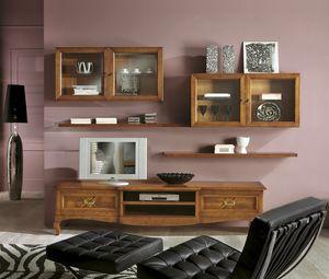 Intarsio tv stand, Classic style TV cabinet