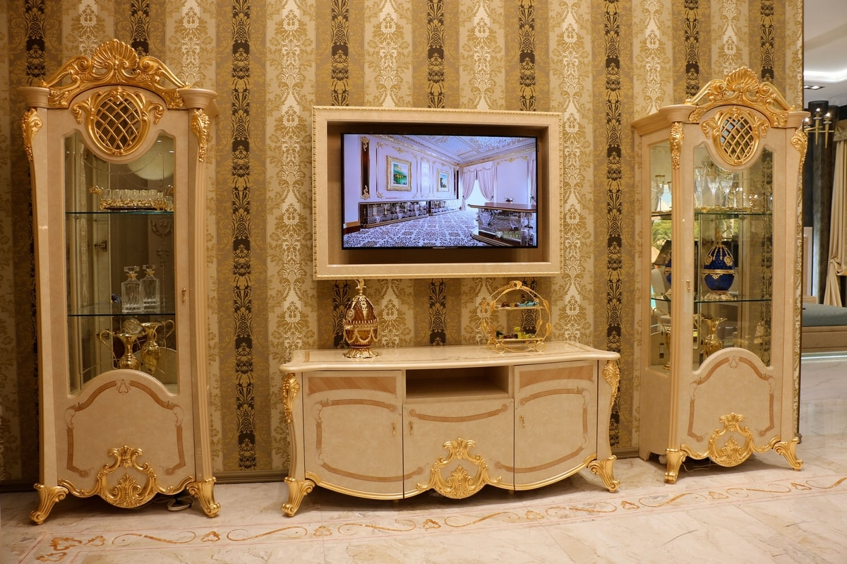 Isabelle TV composition, TV cabinet for luxurious living room