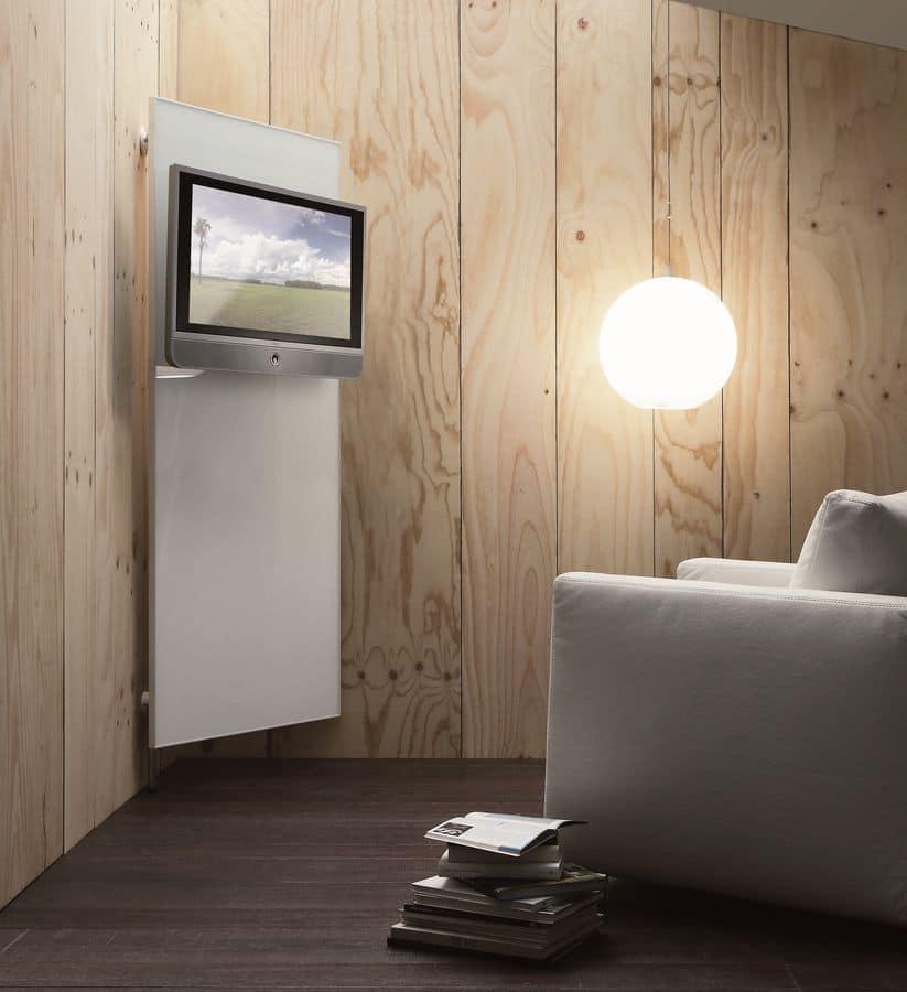 k102 nascondinoTV, Modern TV system with dresshanger and objectbox system