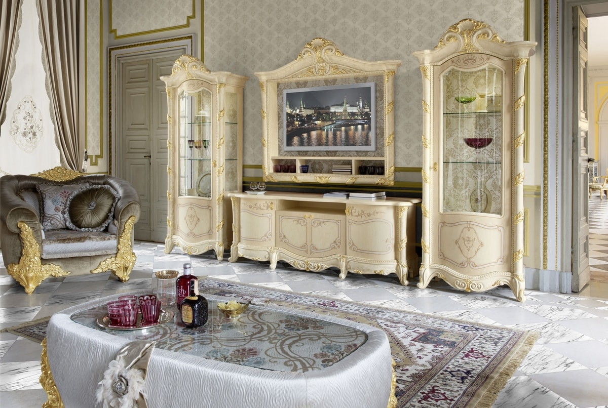 Madame Royale TV composition, Classic style TV stand furniture