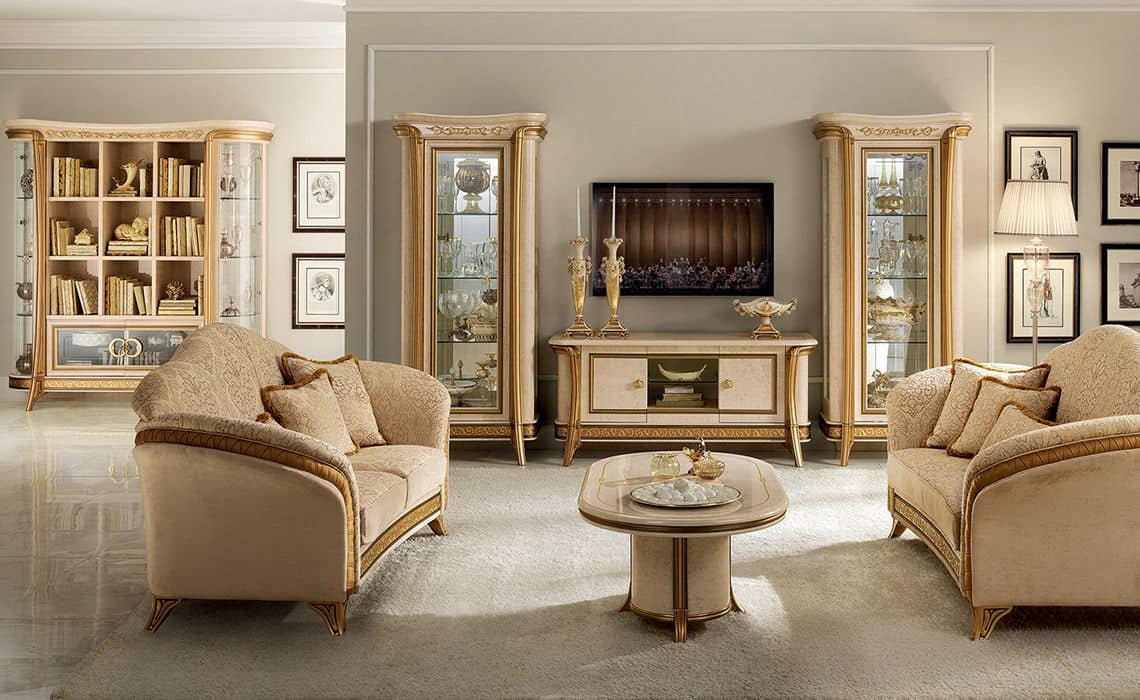 Melodia TV cabinet, TV cabinet for classics living rooms