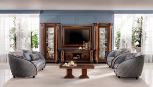 Modigliani TV set composition, Classic style TV cabinet