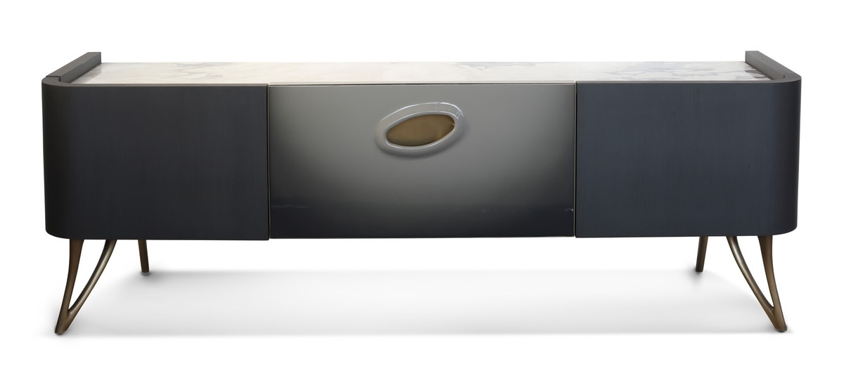 PANGEA TV cabinet GEA Collection, TV stand with precious marble top