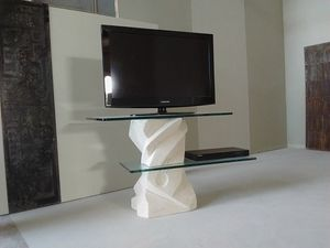 Picasso tv stand, TV stand with adjustable glass shelves