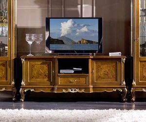 Regency TV stand, TV cabinet with briar fronts