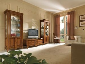 Salieri tv cabinet, TV cabinet in wood, with drawers
