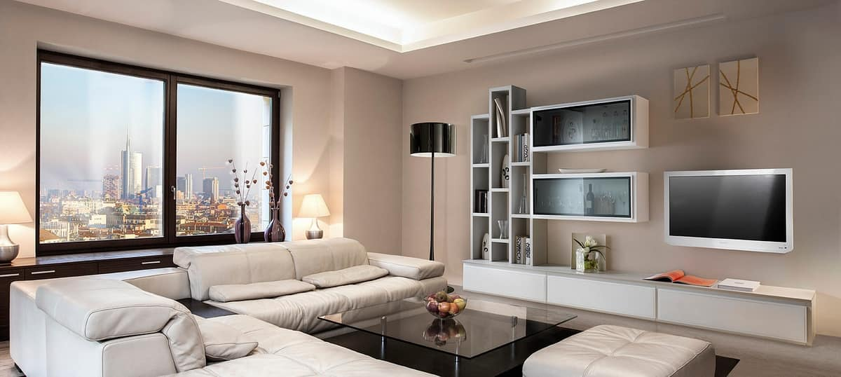 ST 7, TV cabinet with bookshelves, display cabinets and containers